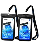 Mpow Waterproof Case, Universal IPX8 Waterproof Phone Pouch Clear Dry Bag Compatible with iPhone 11/Xs/XS Max/XR/X/8 Plus/7, Galaxy S10/S9/S8 Google Pixel and All Devices up to 6.5 Inches