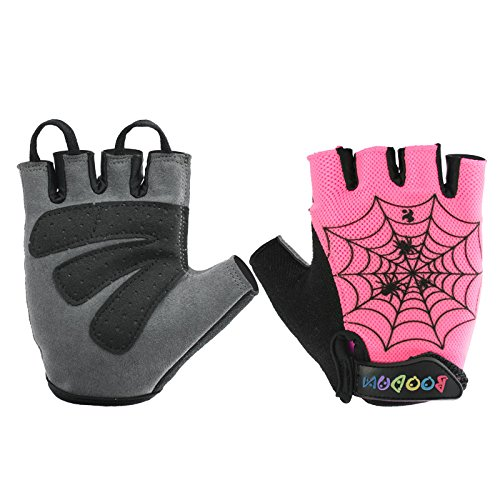 BOODUN Cycling Gloves with Shock-absorbing Foam Pad Breathable Half Finger Green