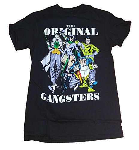 DC Comics Villains Original Gangsters Joker Penguin Graphic T-Shirt - Medium