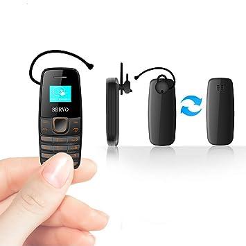 Amazon.com: SERVO Mini teléfono móvil Bluetooth Dialer ...