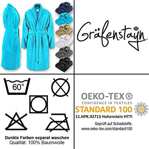 e standard 100 vari S donna Gräfenstayn cotone Accappatoio in conforme Tex 100 XXXL colori Öko Anthrazit da da e uomo allo in fOB4TX4qw