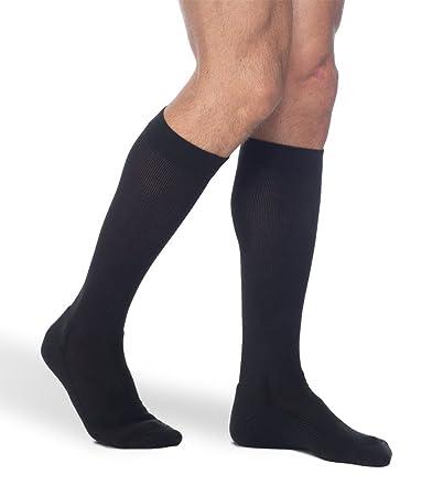 47bc488209 Sigvaris 182C Cushioned Cotton 15-20mmHg Closed Toe Knee High Men's Socks  Size: B