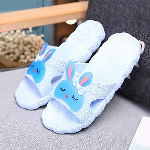 Chaussons Bande Femelle À Et Couleur Domicile 39 Anti Mignon HUYP Sandales D'été dérapant Bain Taille Bleu Bleu Pantoufles À D'intérieur Dessinée Douce l'usure rIqrzwSx