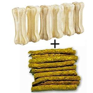 Pet Dog Bone, 6 Pieces (3-inch) with Chicken Stick, 120 g