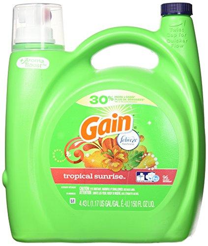 Gain Liquid Laundry Detergent - Tropical Sunrise Scent, 4.43 L