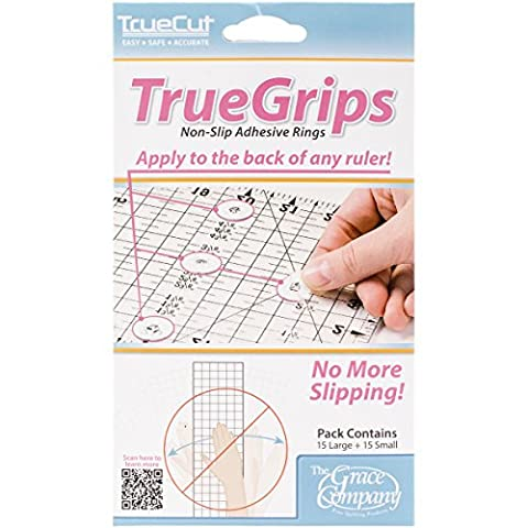 Crafters Workshop TrueCut Non Slip Adhesive Rings , 15 Large + 15 Small Per (Patchwork Tulip)