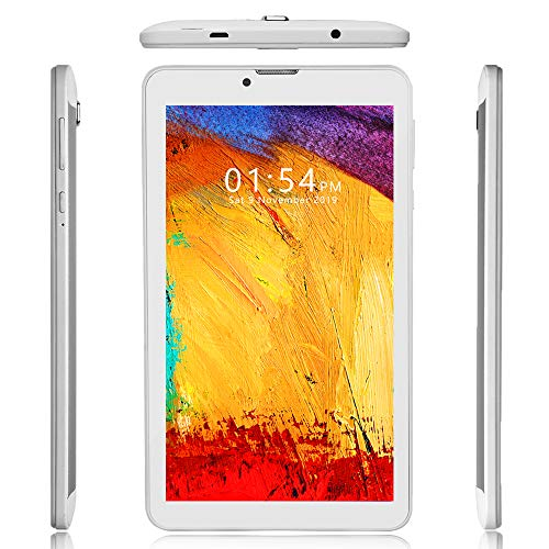 Indigi Unlocked 7.0″ Tablet WiFi+4G LTE Smart Phone Official Android Pie OS Google Play Store (White)