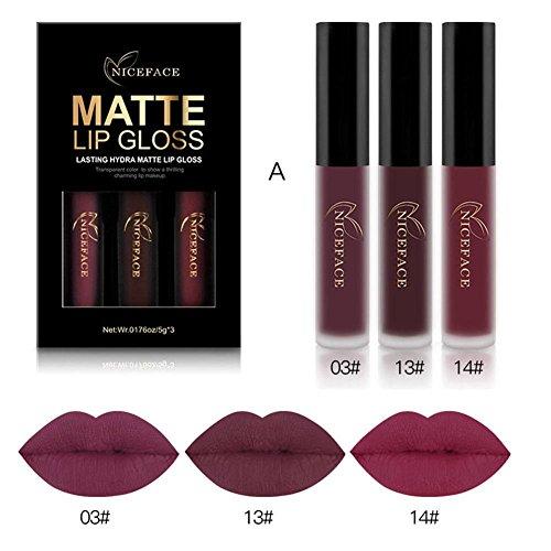 Gracefulvara 3PCS Long Lasting Waterproof Matte Liquid Lipst