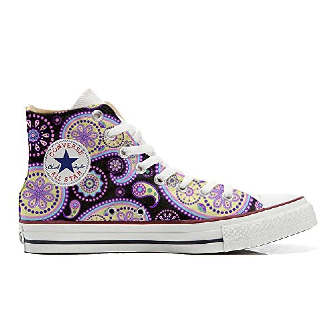 Converse Personalizzate All Star Sneaker Unisex prodotto Artigianale Flowery Paisley Size 33 Eu
