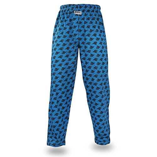 (Zubaz NFL North Carolina Panthers Men's Team Logo Print Comfy Jersey Pants, X-Large, Black)