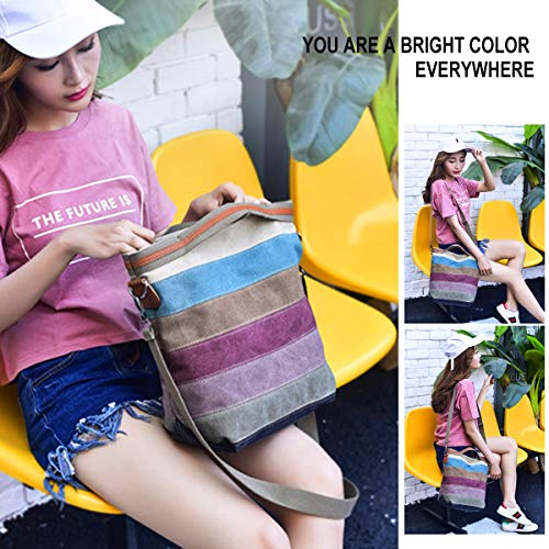 Splash Multicolor Shoulder ABLE Messenger 5 Crossbody Anti Bags Women Water canvas OwOIxPEq