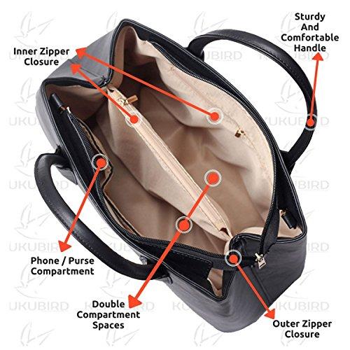 Haute Design De handle Faux Bretelles Qualité En Black Top tout Fourre Deux Bandoulière Kukubird Jannelle Cuir qwEHCxnFz