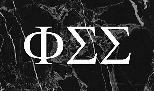 Theta Sigma Phi (Phi Sigma Sigma Dark Marble Sorority Letter Flag Banner 3 x 5 Phi Sig)