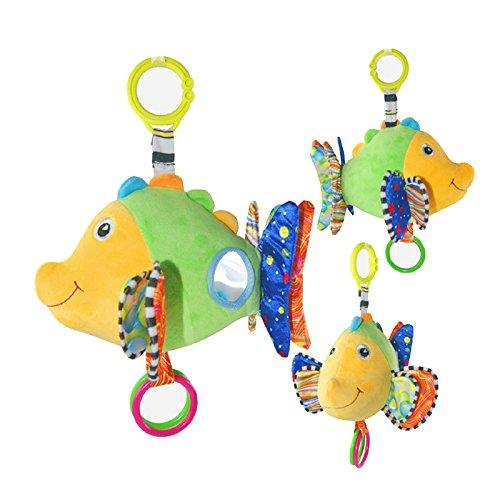 GreenSun TM Animal Fish Musical Soft Baby Rattle Handbells Developmental Toy Baby Kids Bed Bells Plush Animals Rattle