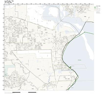 La Porte Tx Zip Code Map.Amazon Com Zip Code Wall Map Of La Porte Tx Zip Code Map Laminated