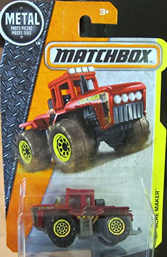 (Matchbox, 2016 MBX Construction, Acre Maker Tractor [Red] 53/125)