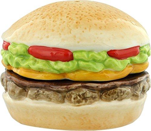 Stacked Cheeseburger in Paradise Burger Magnetic Salt /& Pepper Shaker Set S//P