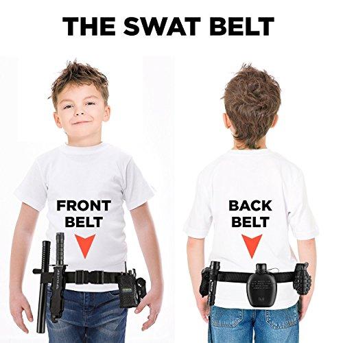 Ultimate tout-en-un ensemble de jeu de rôle policier pour les enfants - Comprend SWAT Shield, ceinture réglable, lampe… 3