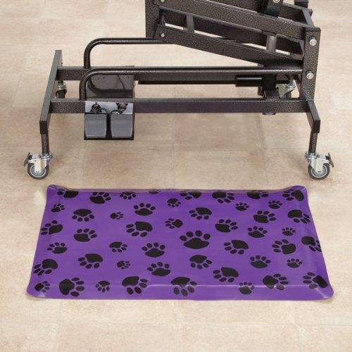 Black Top Performance PVC and Foam Anti-Fatigue Rectangular Floor Pet Mat, 24-Inch, Black
