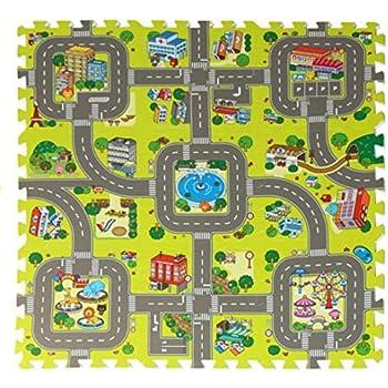 Amazon Com Sorbus Traffic Play Mat Puzzle Foam