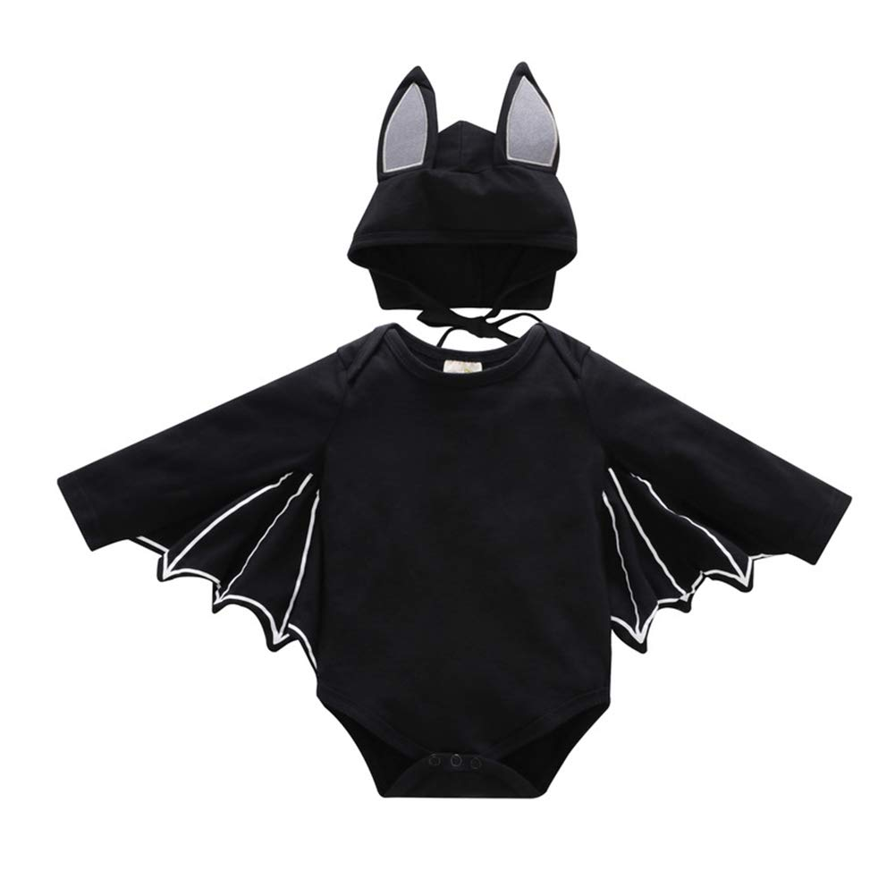 Fairy Baby 2 Pieces Sets Halloween Costume Performance Clothes Long Sleeves Bat RomperHat