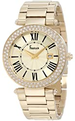 Freelook Women's HA1538GM-3 All Shiny Gold Plated Dial Swarovski Bezel Watch
