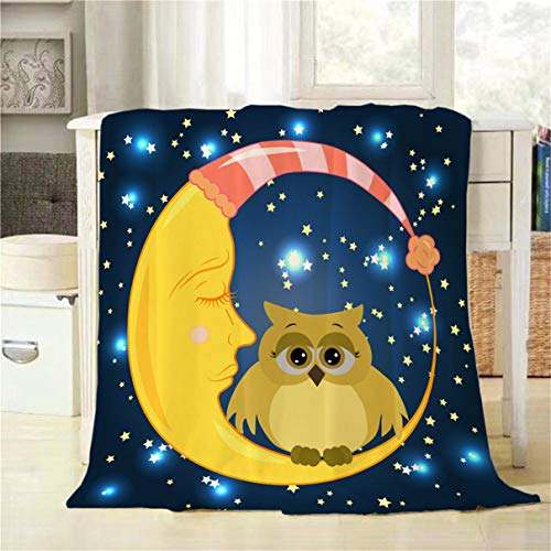 Mugod Owl Throw Blanket a Lovely Cartoon Owl with Sad for sale  Delivered anywhere in Canada