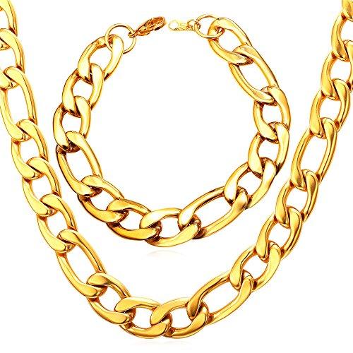 U7 Heavy Fashion Jewelry Figaro
