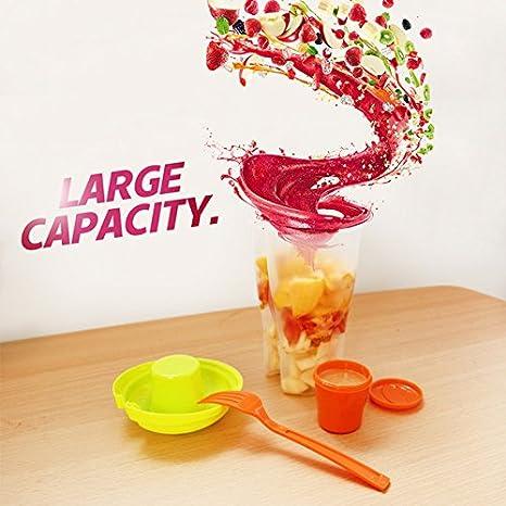Recipiente para ensalada con tenedores, portátil, para picnic, verduras, frutas, ensaladas, utensilios de almacenamiento: Amazon.es: Hogar