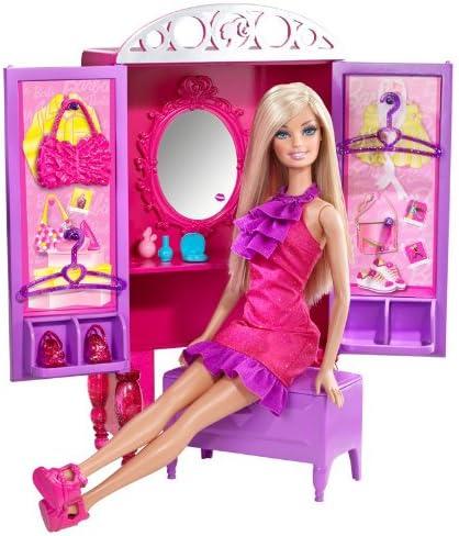 B0042ESHBY Barbie Dress-Up To Make-Up Closet and Barbie Doll Set 51BpuuYVmzL
