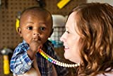 Willow + Mae - Savannah Silicone Teething Necklace for Mom and Baby - Rainbow & Ivory