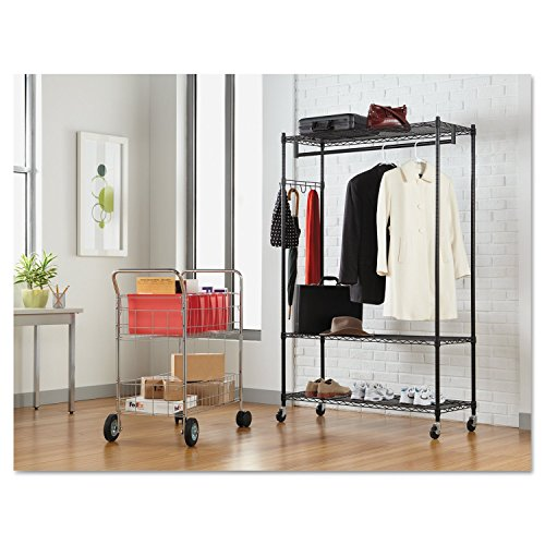 Amazon.com: Alera Wire Shelving Garment Rack (Black): Kitchen & Dining