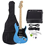 ISIN Full Size Electric Guitar for Beginner with Amp and Accessories Pack Guitar Bag (Sky Blue)
