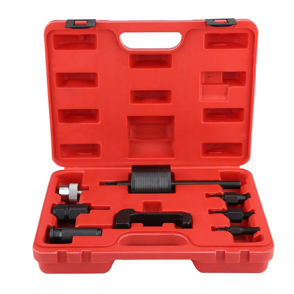 Zerone Injektor-Auszieher, 8 Stü cke Common Rail Injektor Extractor Diesel Puller Set Passt Mit Box