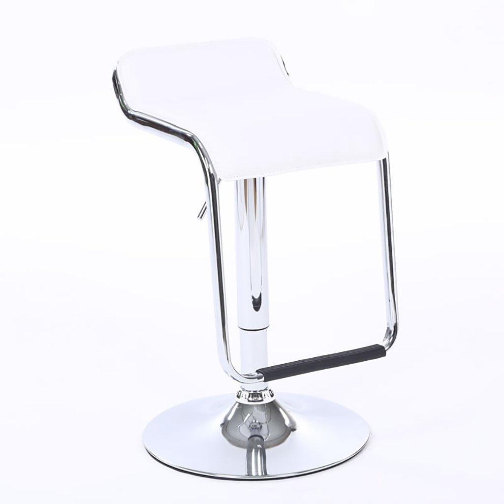 XUEPING チェアーバーチェアロータリーリトラクタブル合成皮革スポンジフィル9色クラシックデザインのフロントデスクキャッシュバー美容院の椅子 ( 色 : D ) B07BTRNMLTD