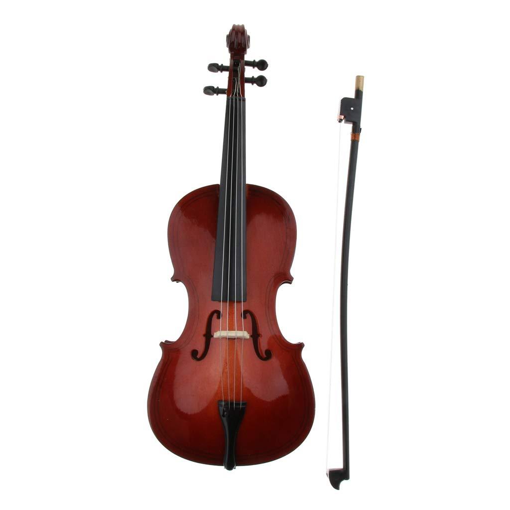 Homyl Violoncello In Legno In Miniatura Mini Strumento Musicale Con Scatola Marrone-15cm//18cm//25cm 18 cm