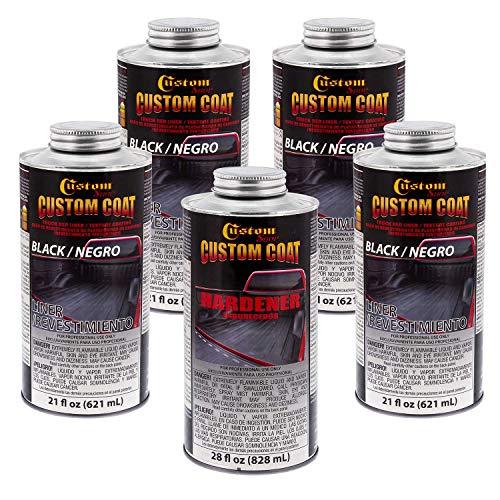 Custom Coat BLACK 0.875 Gallon Urethane Spray-On Truck Bed Liner Kit