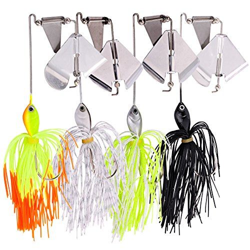 Sougayilang Fishing Lures Buzzbait Spinnerbait Topwater Lure for Bass Pike Fishing