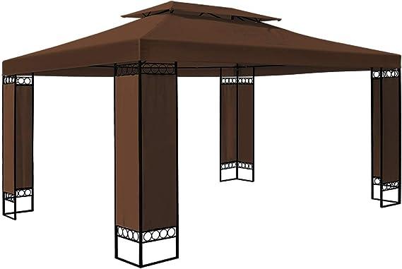Deuba Carpa Elda Color marrón 3x4 m cenador de Exterior Grande pabellón de jardín Repelente al Agua terraza: Amazon.es: Jardín