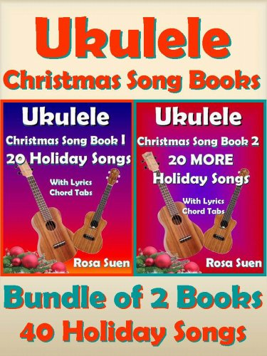 Amazon Ukulele Christmas Song Books 1 2 40 Holiday Songs