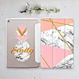 Macbook Pro 9.7 Case Apple Tablet Geometric Gold Pink White Marble Personalized Monogrammed for All iPad Smart Cover AW4009
