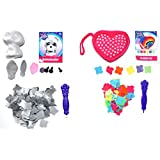 Orb Factory Craft Kit Bundle Includes Plush Craft Heart Clutch Purse and 3D Mini Schnauzer Dog