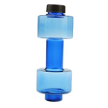 500 Ml Taza Mancuerna Botella De Agua De Deportes De Aptitud Taza De Plástico Azul A Prueba De Fugas: Amazon.es: Deportes y aire libre