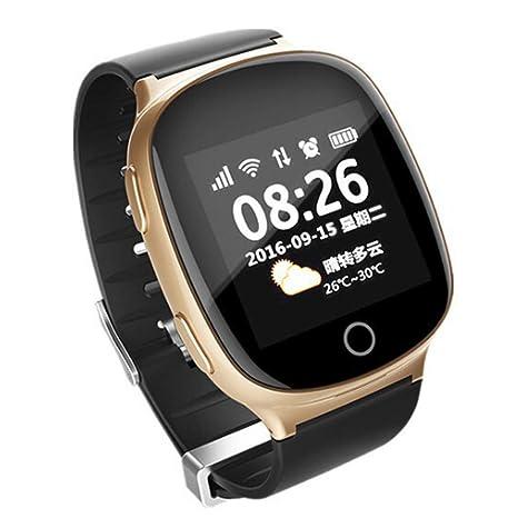 LJF Reloj Inteligente, Reloj De Posicionamiento para Personas Mayores, TeléFono, PresióN Arterial,