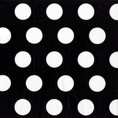 Black White Polka Dot Tissue Paper 15 X 20 - 50 Sheet