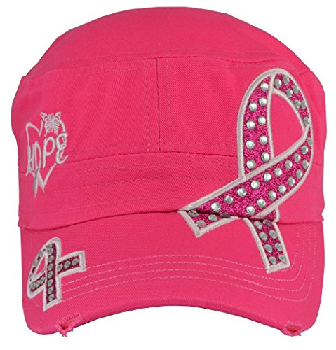 Breast Cancer Awareness Hat Hope Hot Pink,One Size