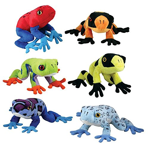 Cuddle Zoo, Tree Frogs - 6-Piece SET Tree Frog Plush
