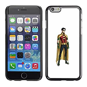 Shell-Star Arte & diseño plástico duro Fundas Cover Cubre Hard Case Cover para Apple iPhone 6 Plus(5.5 inches)( Superhero Robin Mask Cartoon Comics Figure )