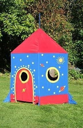 Tienda Cohete Espacial   tienda de campaña infantil   juego de jardín: Amazon.es: Juguetes y juegos