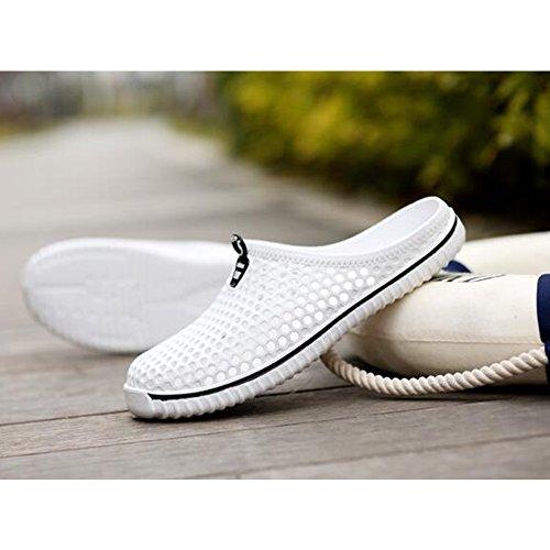 DULEE - Zapatillas de estar por casa para hombre blanco